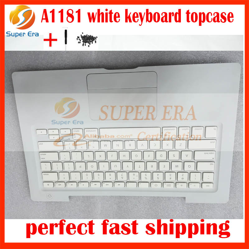 95% NEW US USA white A1181 Top Case For Apple Macbook 13'' A1181 Top Case With US Keyboard And Trackpad Touch Pad Replacement apple mc704zm a white