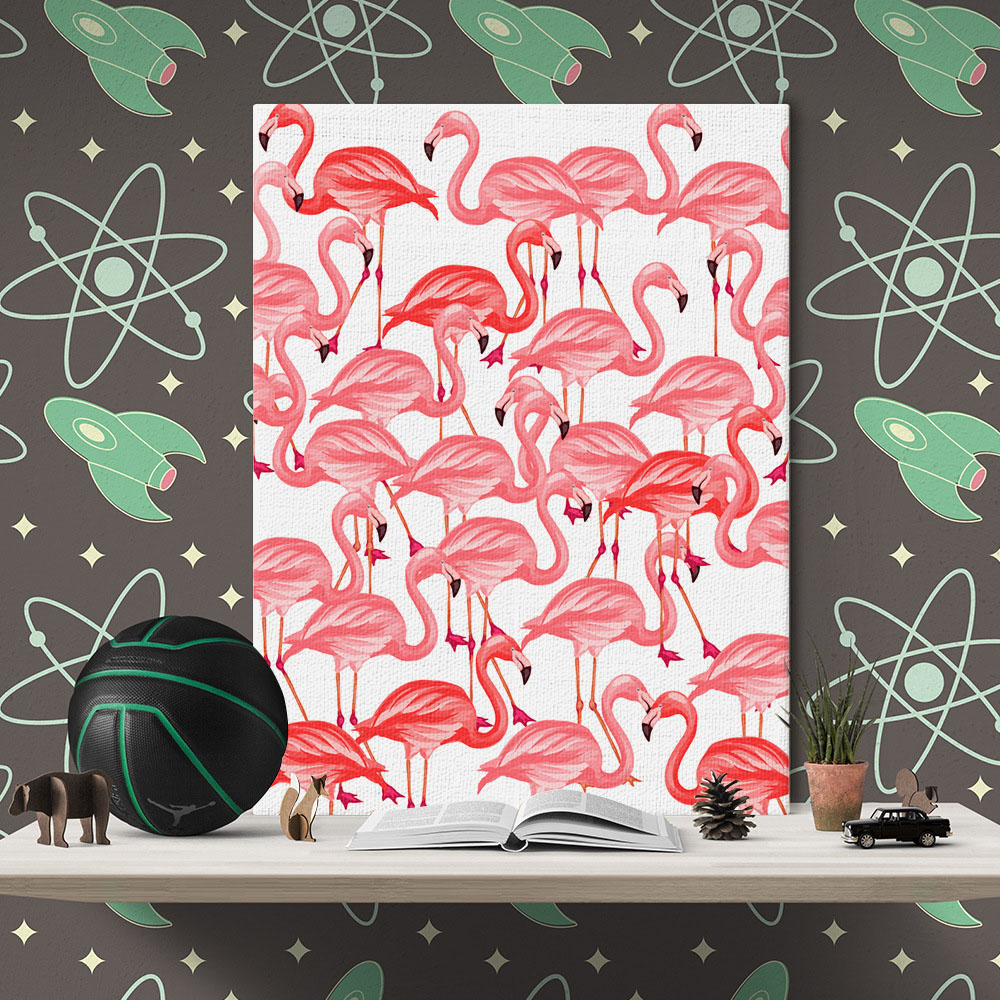 Muur Plank Voor Schilderijen.Hot Koop Woonkamer Medium Size Flamingo Moderne Muur Decoratie