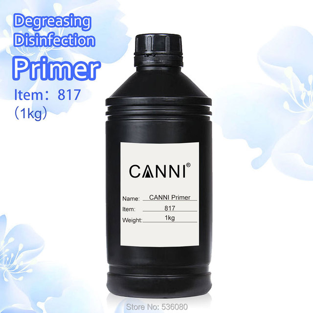 #817  CANNI 1 KG 1 Galon Nail Art Professional Use Nail Acid-free Primer UV Gel,Bonder gel