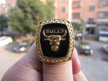 Envío gratis 1991 Bulls campeonato de baloncesto Replica anillo de campeonato de Bull sólido ventilador Brithday regalo venta al por mayor