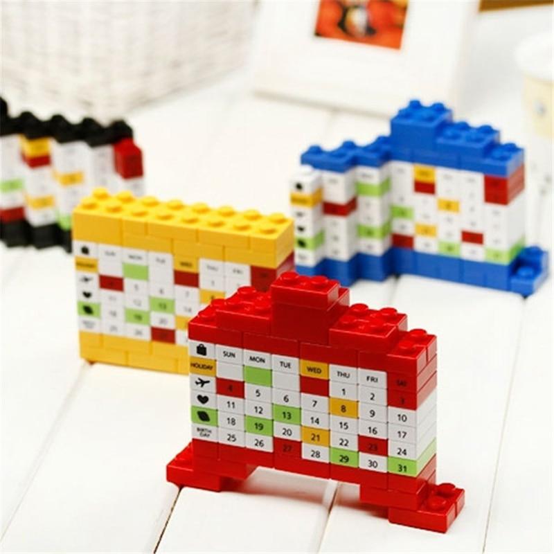 Creative Desk Calendar Cute DIY Plastic Block Perpetual Advertising Puzzle Desktop Table Calendars Gifts Stationery
