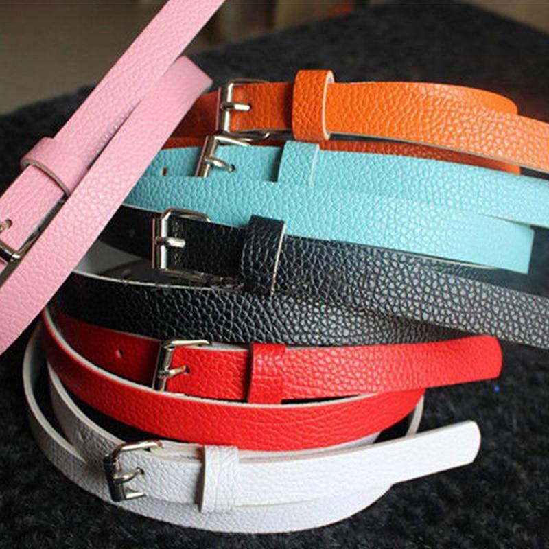 10 Colors Women Faux Leather   Belts   Summer Candy Color Exquisite Waist   Belt   Accessories Thin Women   Belt