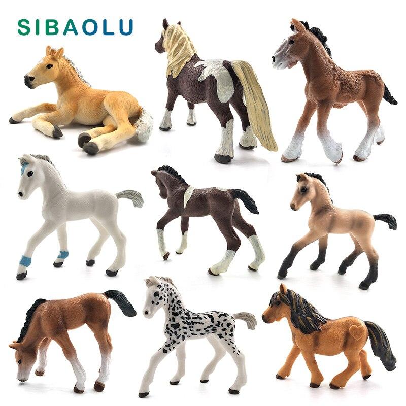 DIY Simulation Animal Model Cute Horse Figurine Plastic Bonsai Home Decor Miniature Fairy Garden Decoration Accessories Modern