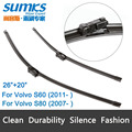 "Wiper blades for Volvo S60 (from 2011 onwards) 26""+20"" fit push button type wiper arms only"