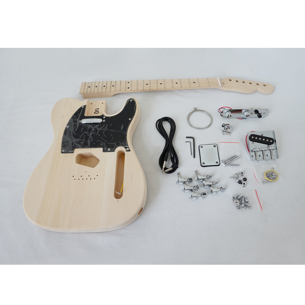 Aiersi brand factory price Tele Style basswood Diy Electric Guitar Kits Model EK 002