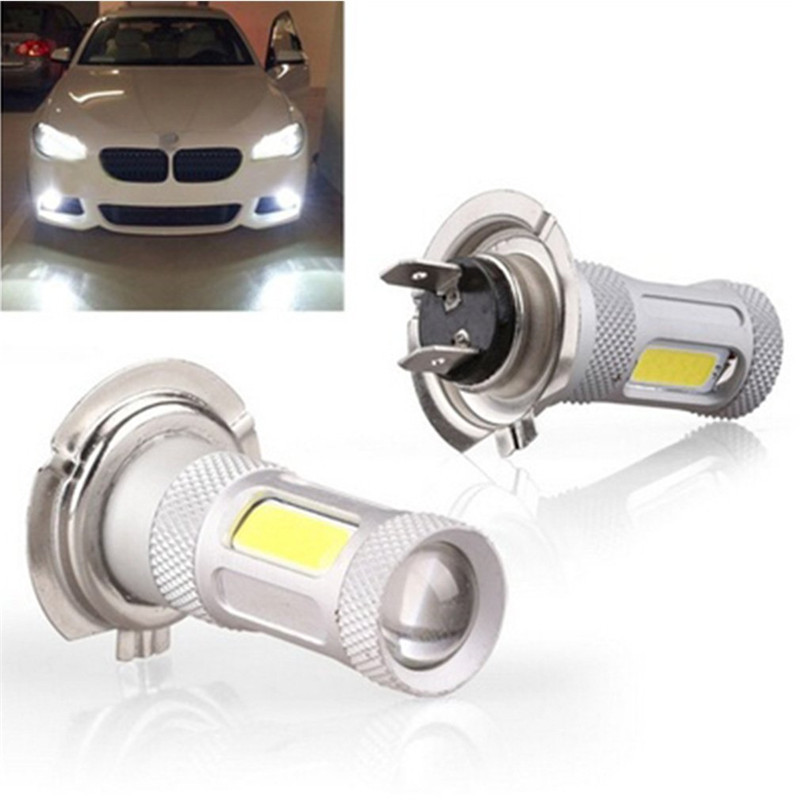 Universal Auto Cars Fog Light Lamp High-power COB H4 H11 9006 H7 LED Headlights 6500K Bulb Front Laser Brake Warning Light