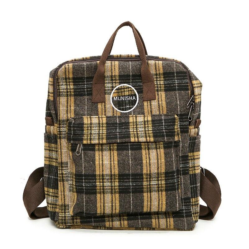 New Multifunction Backbag Wool Bagpack Women Bag Pack Schoolbag Backpack Travel Rugzak Meisje Japanese School Bag Student Rugtas