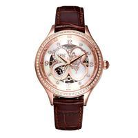 PB принцесса бабочка Роскошные модные женские часы из натуральной кожи ремешок Механические четырехлистный клевер кварцевые женские часы