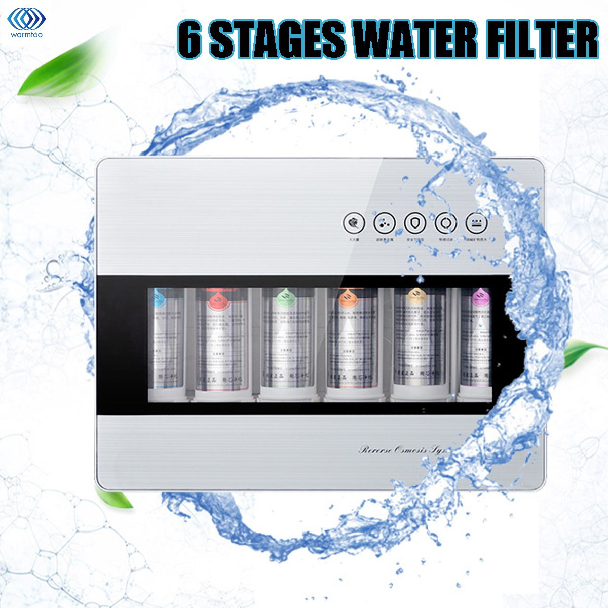 6 Stage Multi-function Undersink Home Clean Water Filter System Drinking Reverse Osmosis RO UF Kitchen Purifing Water Direct maurice lacroix eliros date el1084 ss001 111 1