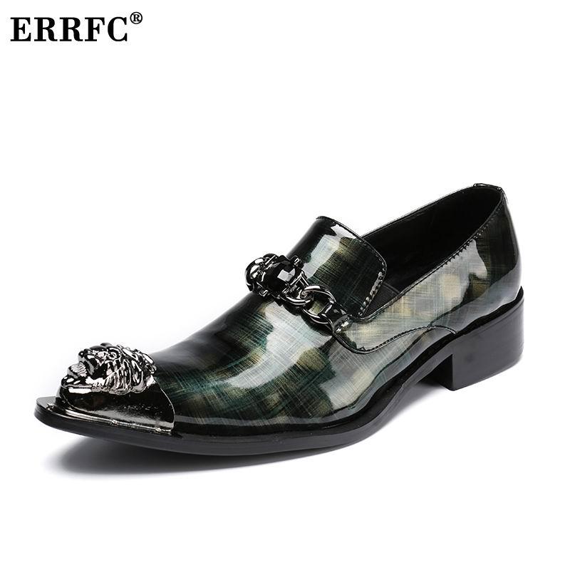 vestido patente zapatos ocio de hombres boda punta 46 metal púrpura