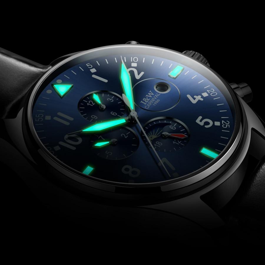 Carnival Sapphire Automatic Mechanical Watch Men Stainless steel waterproof Watch relogio masculine Luminous Wristwatch Gift box