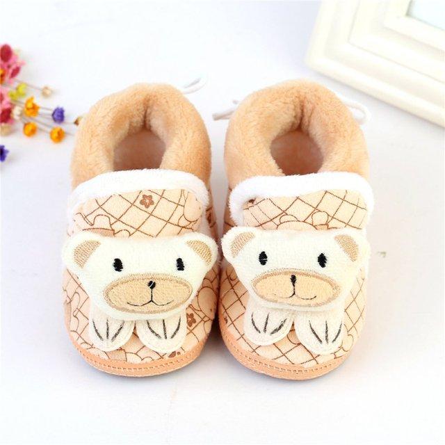 0e3cc2d7d3892 Nouvelle Hiver Bébé de Neige En Bas Âge chaussures Bébé Fille Chaussures  Tricoté Bande Dessinée Ours