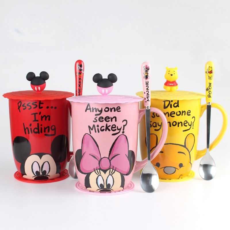 Cartoon Mug <font><b>Lovely</b></font> Mickey <font><b>Cups</b></font> 500ml Winnie The Pooh Creative Milk <font><b>Cups</b></font> Minnie Coffee Water <font><b>Cup</b></font> Drinkware Cute Xmas Gift