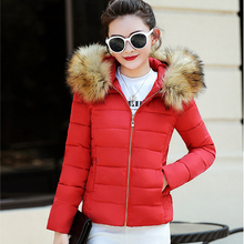 hot sale 2018 Top Fashion Limited Full Slim Cotton Jacket Heavy Hair Female Cotton-padded Coat Winter Coat Women