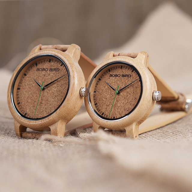 BOBO BIRD Watches Bamboo Couple Clocks Analog Display Bamboo Material Handcrafted Timepieces Wooden Watch Men Made in China 2