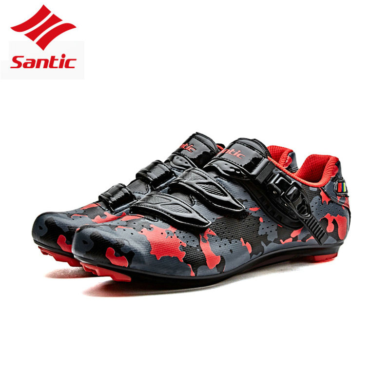 Santic Men Cycling Road Shoes Profession Self-Locking Cycling Sneakers Camouflage Women Bicycle Bike Shoes sapatilha ciclismo santic new design cycling shoes men outdoor road bike shoes self locking shoes non slip bicycle shoes sapatos with 3 colors