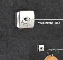 Merdeka Chrome Professional 2500 Mm Retractable Clothes Line Holder Hangers  Rack