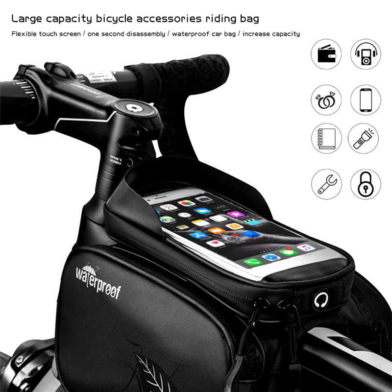 "M Pouch Bike Phone 6.5/"" smartphone iPhone Bike door objects DualFit"
