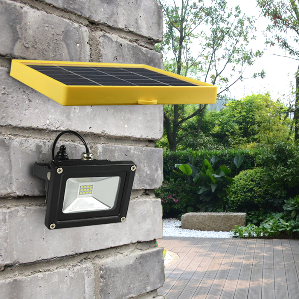 outdoor 10w solar floodlight waterproof led spotlight with 5m wire 2200ma battery for led. Black Bedroom Furniture Sets. Home Design Ideas