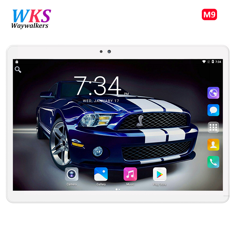 Free Shipping Smart Newest Tablet PC Phone Call Android 7.0 10.1 Inch Octa Core 1920x1200 WiFi Tablets pc 10 gifts 32GB/64GB bmxc brand octa core metal 4g tablet pc 10 1 inch tablets android tablet 10 1 1920 1200 screen phone call tablet gps wifi 10