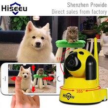 Ip-камера Wi-Fi Беспроводной Smart Собак Безопасности Камера Micro SD сеть Поворотный Защитник Дома Telecam HD Видеонаблюдения IOS ПК Hiseeu FH4