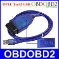 Профессиональный OBD2 Диагностический Интерфейс Для OPEL Tech2 Интерфейс USB Кабель Opel Tech 2 USB Сканер