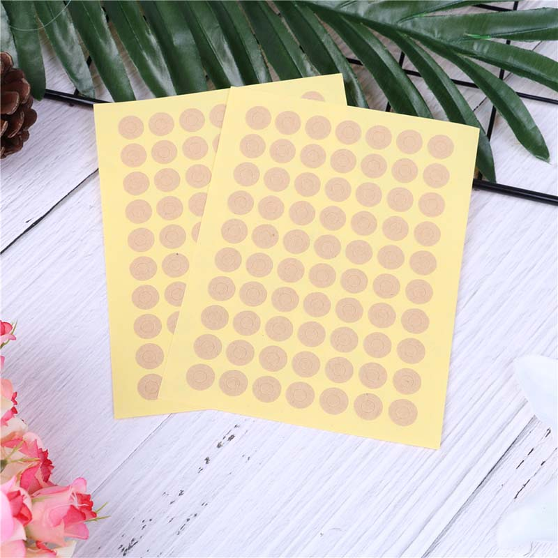 140pcs/lot Kraft Paper DIY Gift Seal Stickers Reinforcement Hole Sticker For Hangtag Stationery Ring Label Supplies