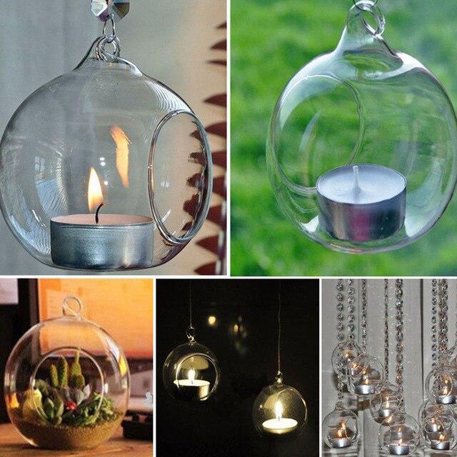 Кристаллическое стекло Висячие подсвечник подставка для свечей дома свадьба; вечеринка Декор кристалл стекло подсвечник, держатель свечей