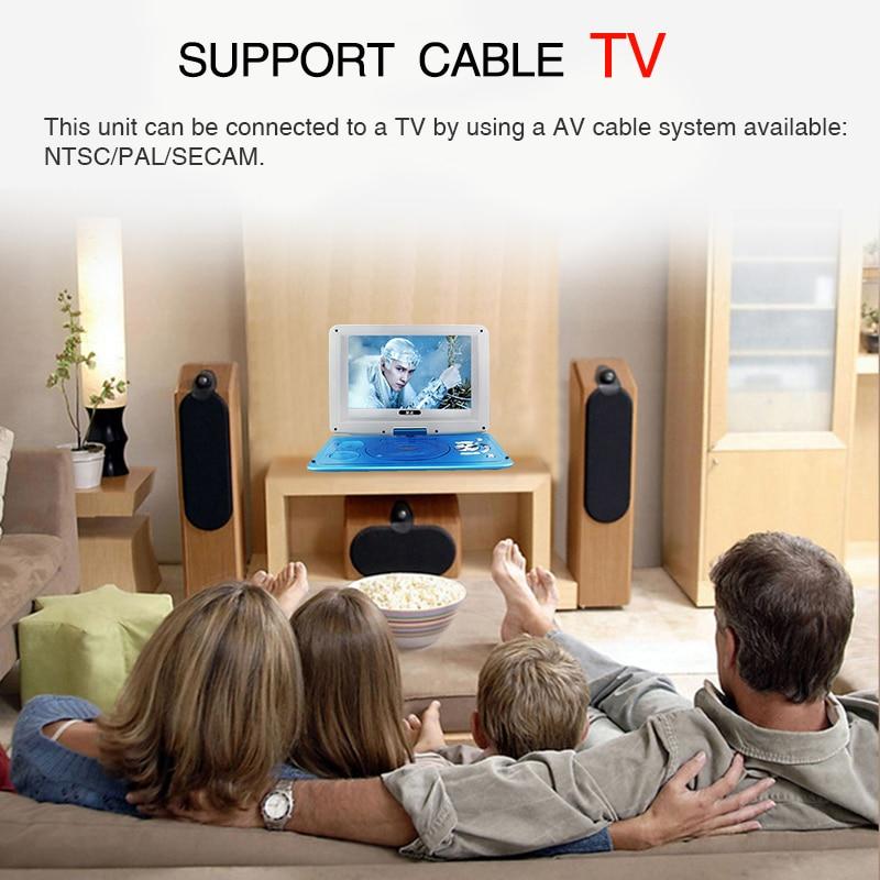 2017 Novi 14 inčni HD prijenosni rotirajući zaslon Smart TV EVD DVD - Kućni audio i video - Foto 6