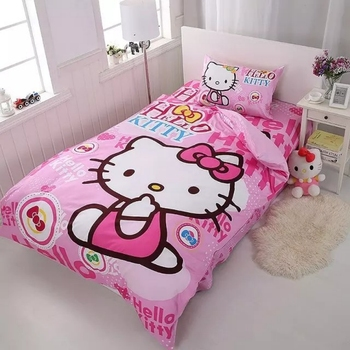 3D Bedding Set Minecraft Creeper Kids Bed Set Twin Full Queen Size 2/3pcs Duvet Cover Pillow Sham Free to hello kitty
