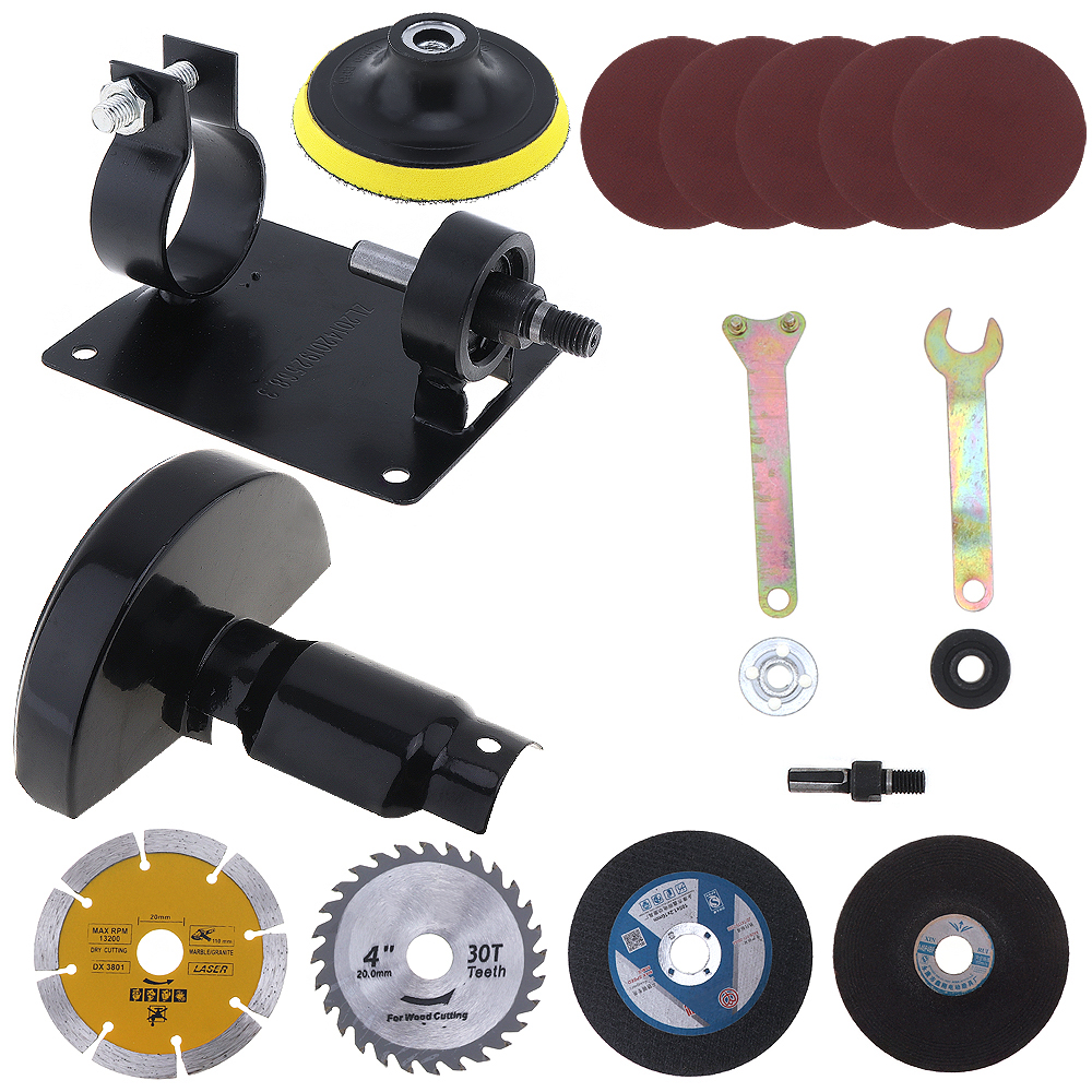 17pcs/set 13mm Electric Drill Cutting Seat Conversion Tool Accessories with Grinding Wheel and Metal Slice for Grinding17pcs/set 13mm Electric Drill Cutting Seat Conversion Tool Accessories with Grinding Wheel and Metal Slice for Grinding