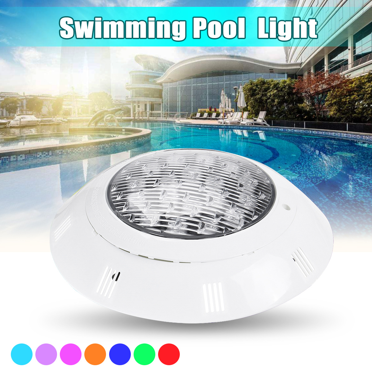 2018 18W RGB LED Under Water Light Pond Swimming Pool Waterproof Multi-color Outdoor Light 24V With Remote Control best quality waterproof ip68 rgb multi color remote control induction charge led table light tubes