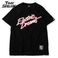 2018 Men T Shirt Hip Hop Electric Dreams Old Fashion Vintage Hiphop Tshirt Cotton 100 White