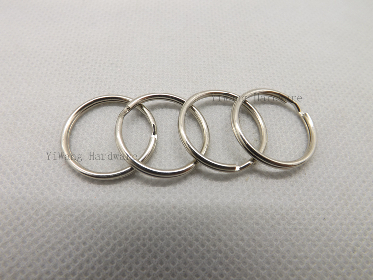 100 pieces/lot 20mm nickel plated metal key ring wholesale
