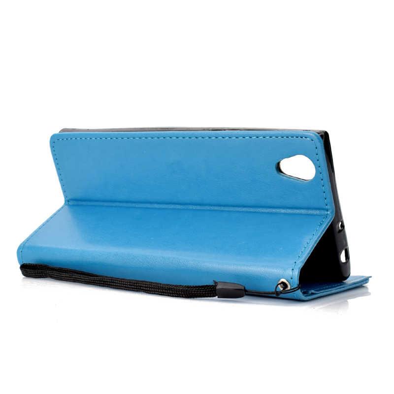 בת ים עוגן עור Flip ארנק רך טלפון סיליקון מקרה כיסוי מעטפת Coque Fundas SONY Xperia L1 E6 L2 XA1 z6 XA2 XZ1 XZ2