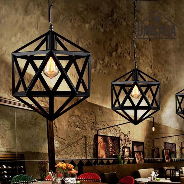 Wrought Iron Pendant Lights Vintage Lighting Office Hotel Bar Kitchen Island Led Light Antique