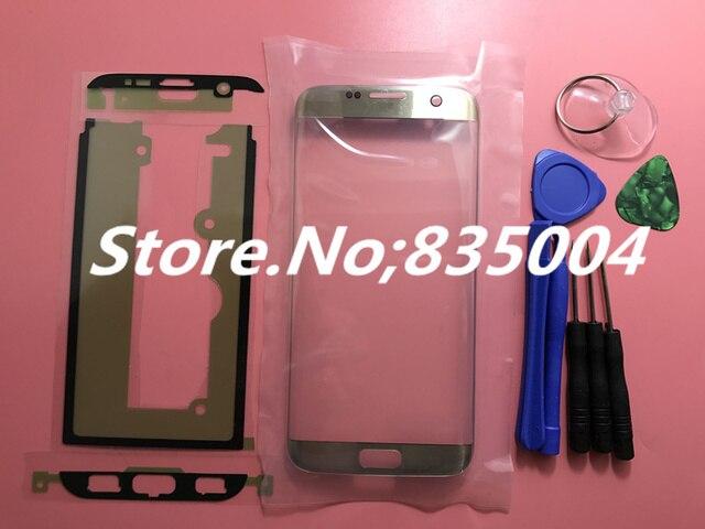 Оригинал Замена ЖК-Передняя Сенсорный Экран Внешний Стекло Объектива Для Samsung Galaxy S7 Edge G9350 G935F + Наклейка + Инструменты Для Ремонта