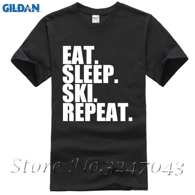 Eat. Sleep. Skier. Repeat. Snow Sking Skier Slope Mens T-Shirt Hot 2017 Fashion
