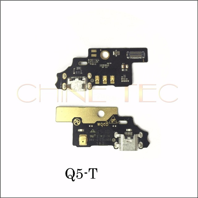 Micro Dock Port Connector Board USB Charging Flex Cable With Micphone Transmitter For ZTE Blade S6 Q5-T Mobile Phone Accessories