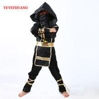 VEVEFHAUNG Kids Ninja Costumes Halloween Party Boys Girls Warrior Stealth Children S Day Cosplay Assassin Costume
