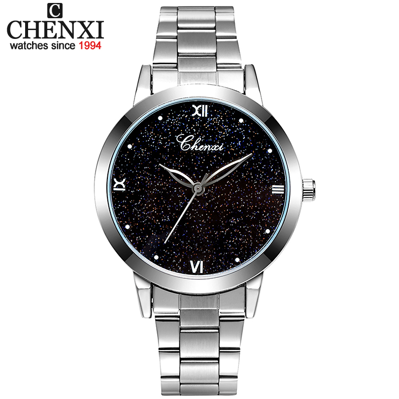 CHENXI Ladies Wristwatches Women Fashion Casual Quartz Watches Clock Women Dress Watch Montre Femme Relogio Feminino xfcs philips светильник для акцентного освещения planet bar spot aluminium 2x50w lirio 57032 48 li