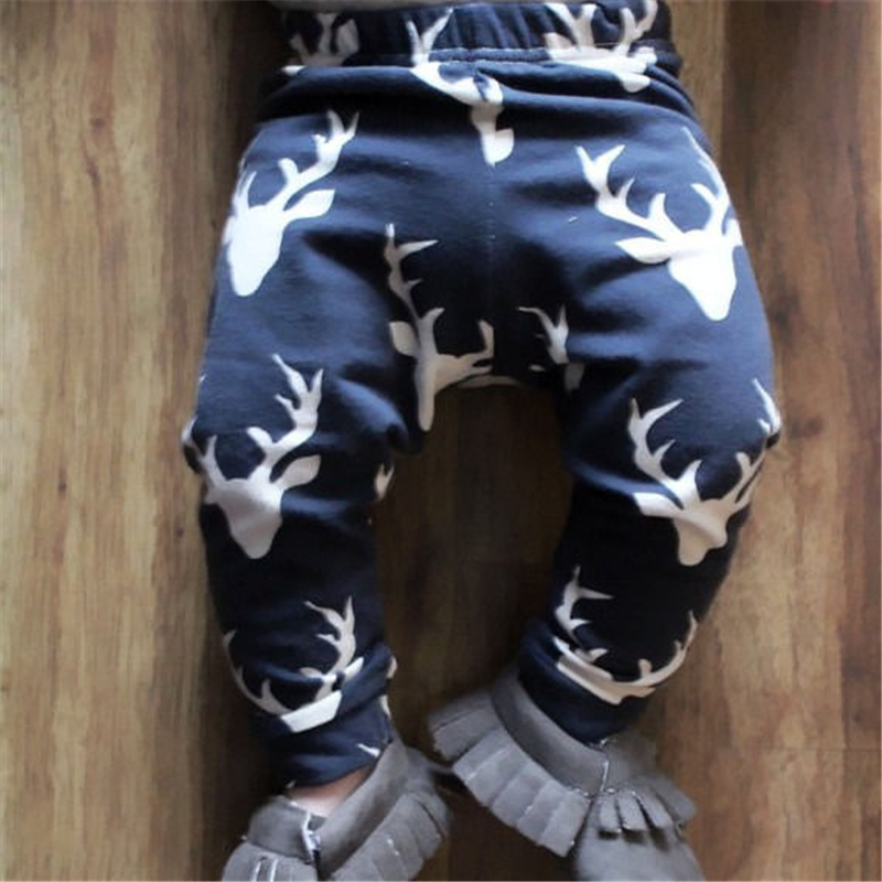 Newborn baby boy girl pants cartoon Christmas elk print harem pants leggings christmas elk print polyester waterproof shower curtain