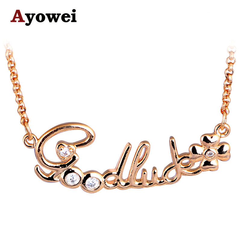Lucky Nacklace For Ladies Best Price Popular Style Design Gold Tone Necklaces Pendants Fashion Jewelry Ln560a Designer Necklace Fashion Necklacenecklace Designer Aliexpress