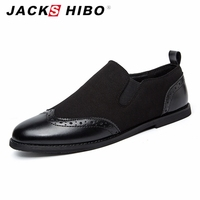 JACKSHIBO 2016 Autumn Brand Mens Suede Leather Shoes Luxury Baroque Style Man Casual Shoes High Quality
