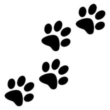 12.8cm*5.5cm Animal Cat Paw Print Funny Vinyl Decal Motorcycle Car Sticker Black/Silver S6-3810