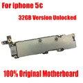 Função original e completo placa lógica mainboard 32 gb versão oficial motherboard para iphone 5c desbloqueado com chips