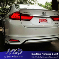 Car Styling for Honda City 2014 2016 Rear reflector for New City rear bumper light DRL brake lamp +Rear Bumpe Reflector