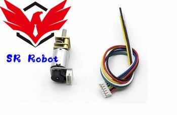 N20 Mini DC Gear Motor con hablar codificador GA12-N20 Motor de engranaje de medición de velocidad para DIY inteligente del chas