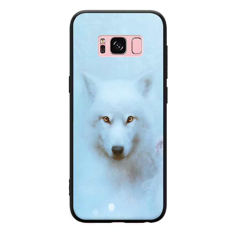 Attractive Elegant Beauty snow wolf Pattern For Samsung Galaxy A3 A5 A8 J3 J5 J7 Hard Phone Case in Phone Bumpers from Cellphones Telecommunications
