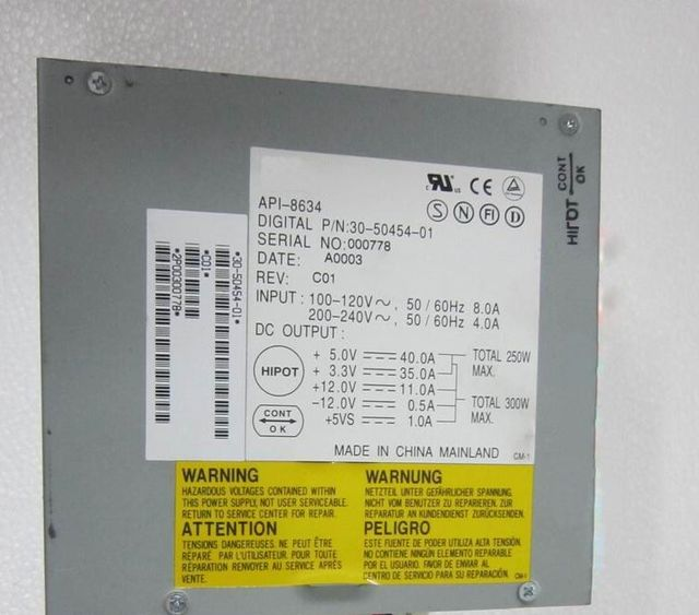 server power supply api 8634 300w for ds10 fully tested ok and good rh aliexpress com